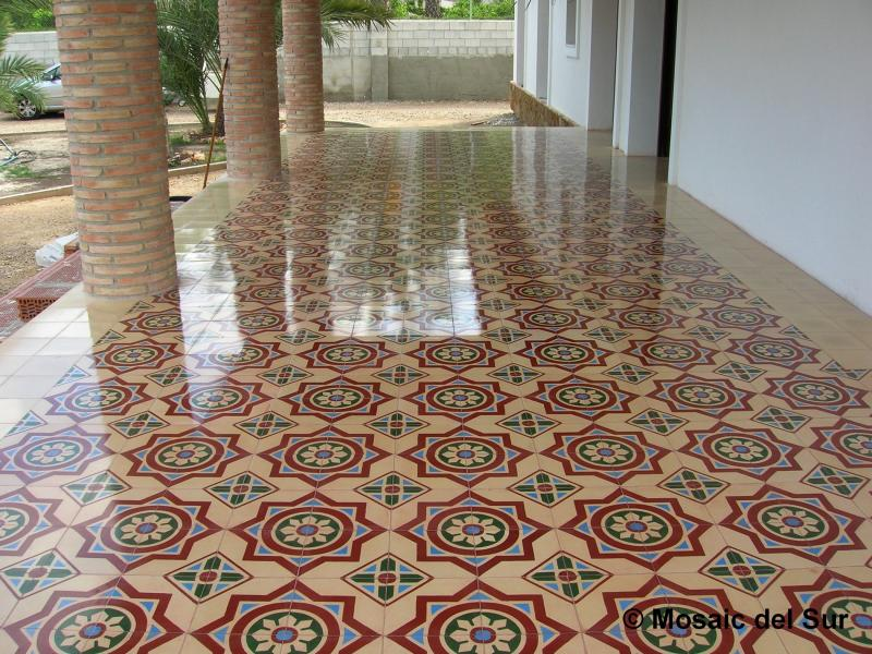 Renovation treatment and maintenance of cement tiles for Carreaux de ciment marais