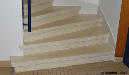 Rénovation escalier en marbre
