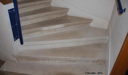 Rénovation escalier en marbre Lille 59