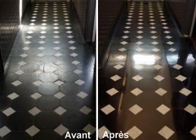 rénovation couloir en marbre mouscron